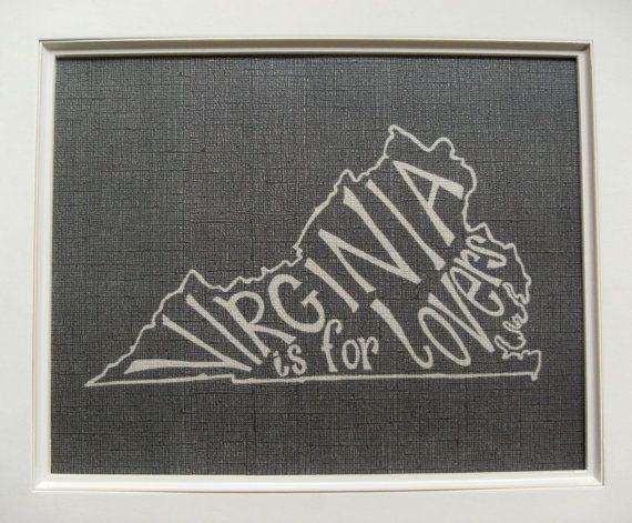 Virginia is for Lovers wallhanging (other states, too, but why would you want one of those?)