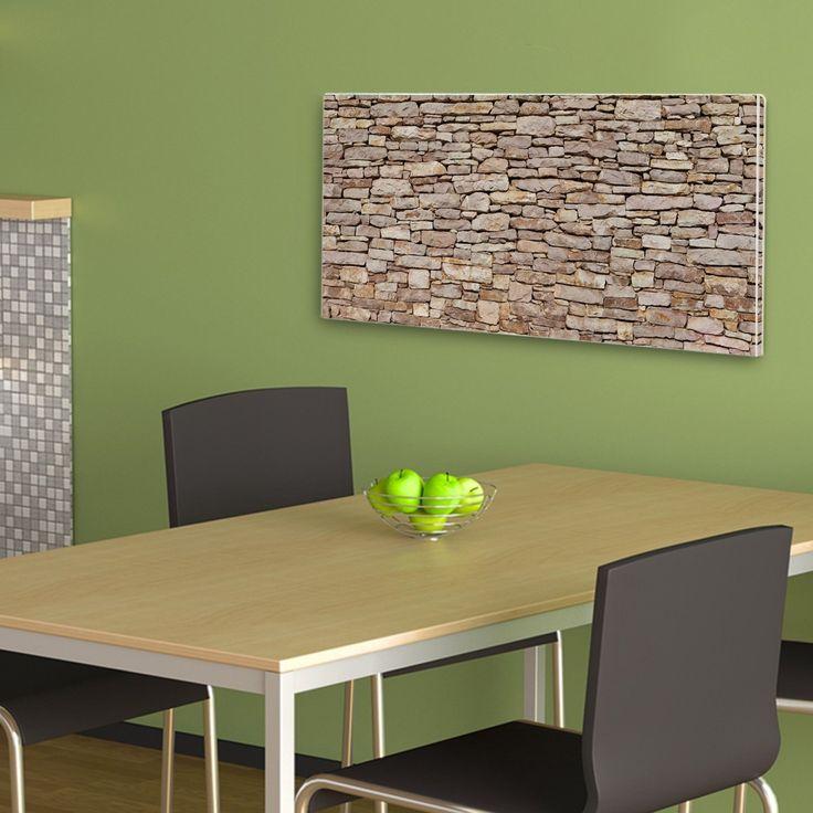 Amazon.de: Besondere Design Magnettafel Weiß Querformat von banjado mit Motiv Alte Mauer