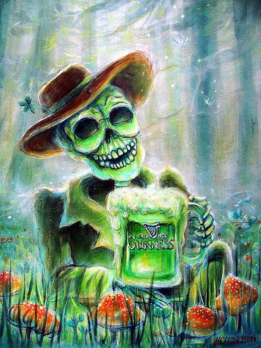 Cerveza Verde by Heather Calderon - Cerveza Verde Painting - Cerveza Verde Fine Art Prints and Posters for Sale
