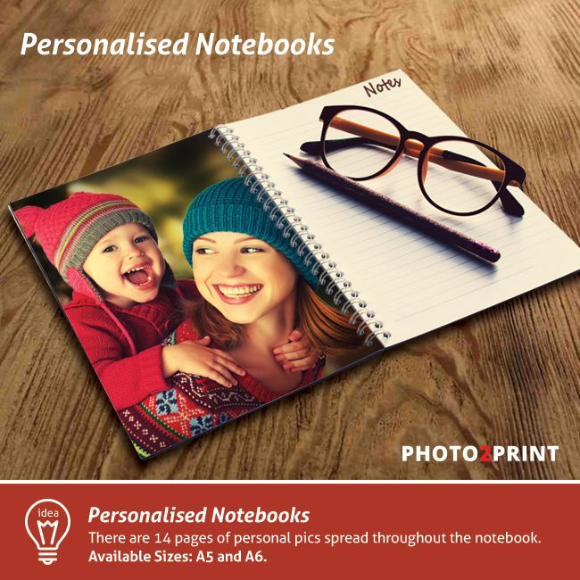 Product Idea: Add your own photos and suddenly you've created a truly unique product well worth taking note of! #productidea #gift #notebook #photo2print