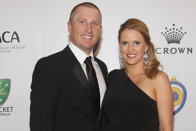 Brad and Karina Haddin