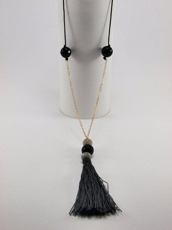 Long Boho Necklace by HippieChicJewelryAth on Etsy