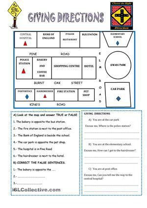 giving directions instructions following directions worksheets teaching aids. Black Bedroom Furniture Sets. Home Design Ideas