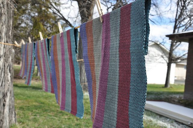 Brown Sheep Yarn: Weaving Hand Towels with Cotton Fine