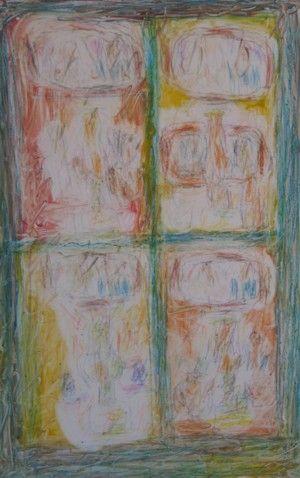 Still life with Lamp II by David Koloane   DAVID KRUT PROJECTS
