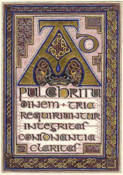 AD PULCHRITUDINEM TRIA REQUIRUNTUR: INTEGRITAS, CONSONANTIA, CLARITAS, (Three things are needed for beauty: wholeness, harmony and radiance.)