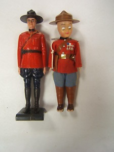 Vintage RCMP Royal Canadian Mounted Police Dolls 2 RW