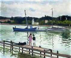 Children at Porquerolles / Albert Marquet