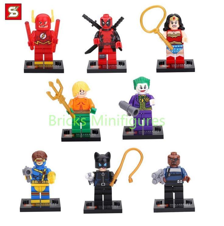 SY178 Building Blocks Super Heroes Wonder Woman Nick Fury Joker Aquaman Cyclops Cat Woman Deadpool Bricks  #Affiliate