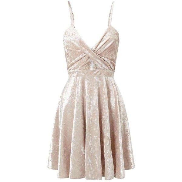 Miss Selfridge PETITE Velvet Skater Dress ($68) ❤ liked on Polyvore featuring dresses, ivory, petite, velvet skater dress, winter white dress, ivory dress, miss selfridge dresses and miss selfridge