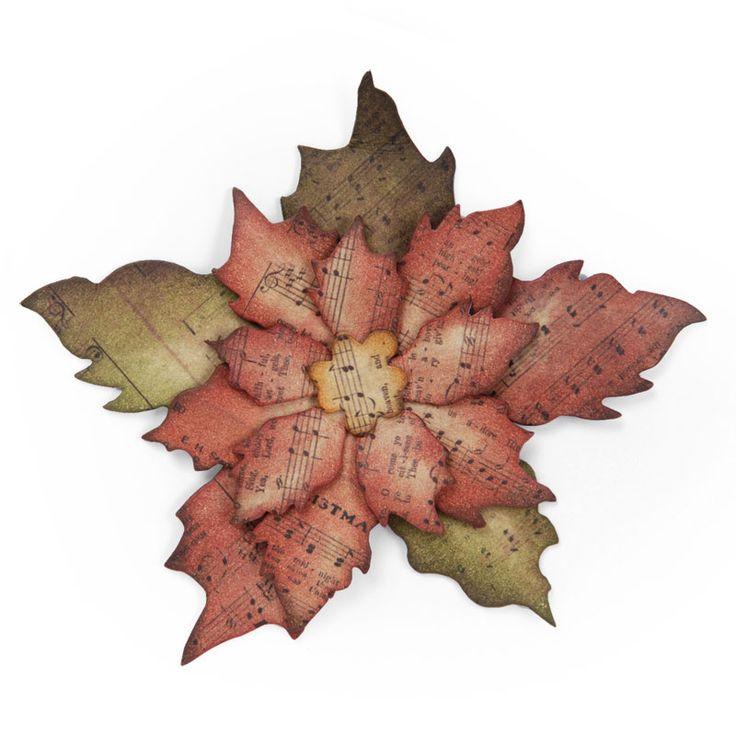 Wykrojnik Sizzix Bigz - Tattered Poinsettia 658261 poinsecja gwiazda betlejemska Na-Strychu