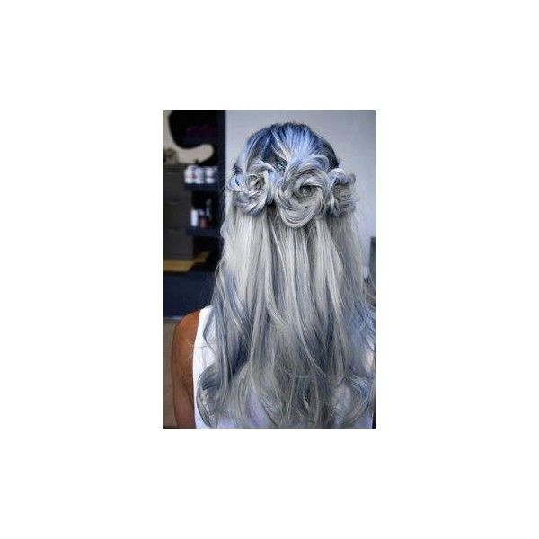Items similar to Cobalt Blue Ombre Hair Extensions, Mermaid Hair, Clip... ❤ liked on Polyvore featuring beauty products