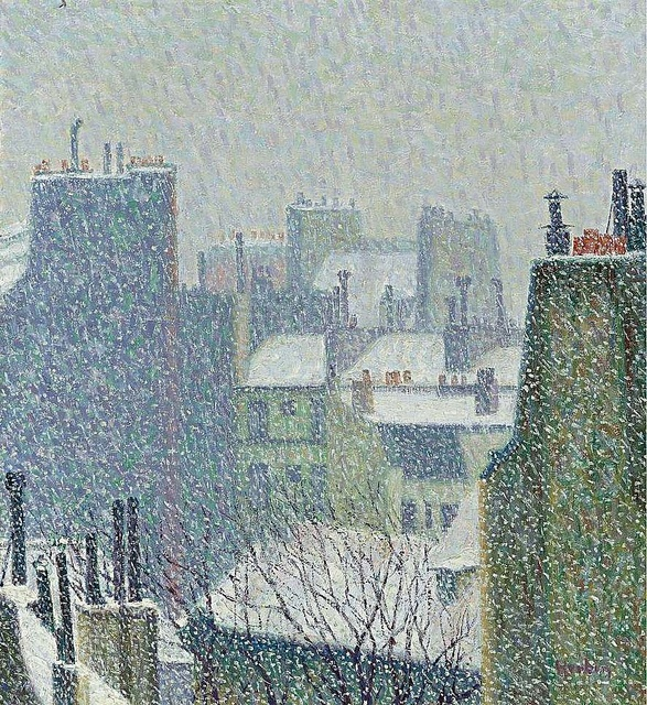 Auguste Herbin - The Roofs of Paris under the Snow