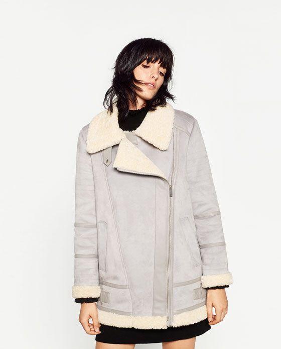 Image 2 de BLOUSON XL EFFET DAIM de Zara