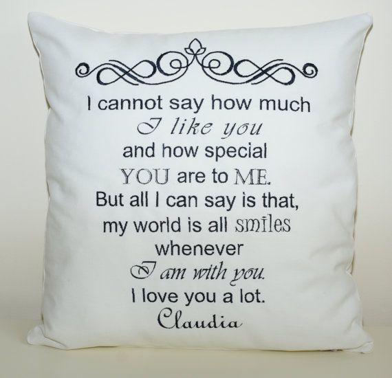 Declaration of love cushion