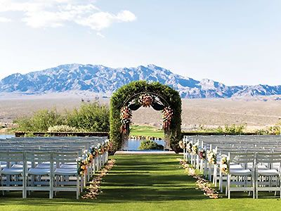 Outdoor Ceremony Decor Events by Paiute Golf Resort Las Vegas Weddings Nevada Wedding Venues 89124