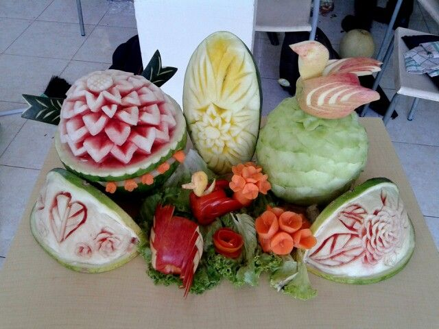 Carving ,watermelon,apple,tomato,carrot ..chef life..