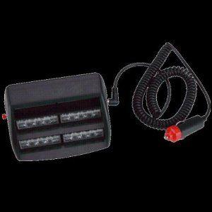 CARCHET® Feux Gyrophare Intervention Pénétration Strobe Pare Brise 18 LED 3 Modes