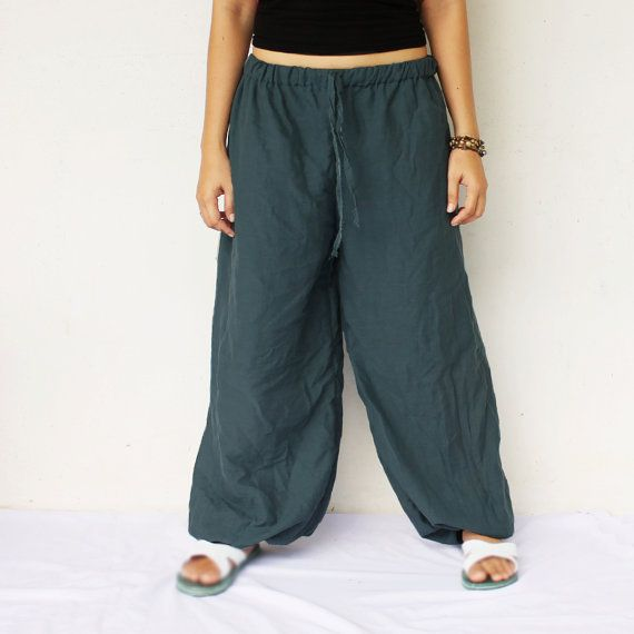 gray  very simply harem balloon pants and by meatballtheory, $25.00