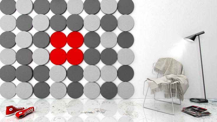 Miękkie panele ścienne 3D Fluffo, Fabryka Miękkich Ścian. Kolekcja Fluffo DOTS. www.fluffo.pl