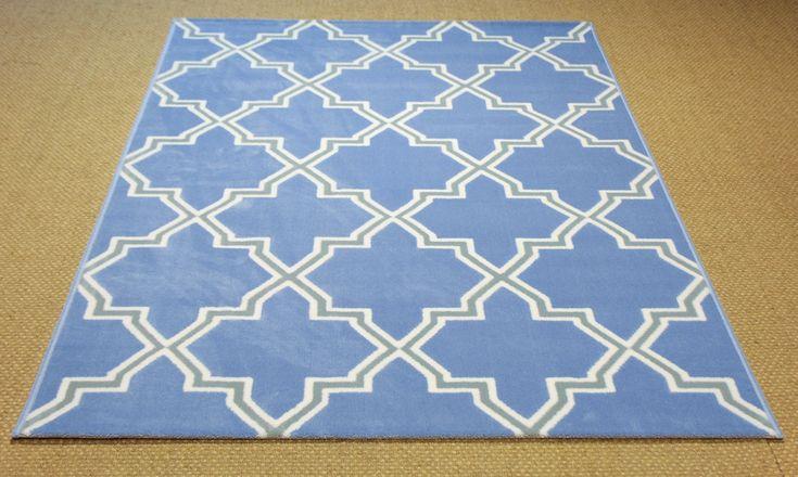 Alfombra de pelo corto, modelo Trellis 21, con patrón de estilo persa. Elegancia y modernidad en una única alfombra. Exclusiva de @Mundoalfombra.com