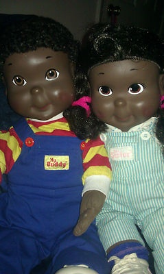 RARE VINTAGE AFRICAN AMERICAN MY BUDDY AND KID SISTER DOLLS 1980s