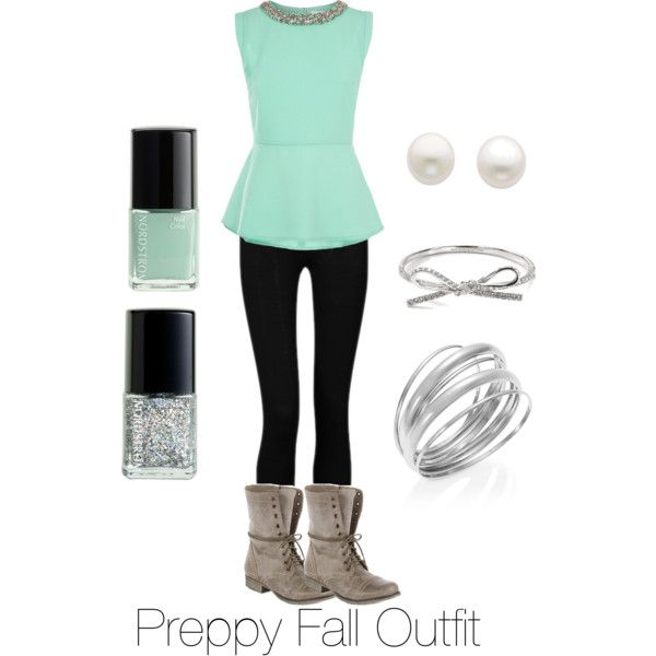 """""""Preppy Fall Outfit"""" this looks like something you would wear! :-)"""