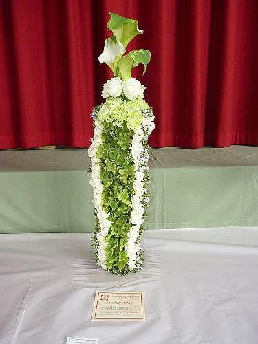 Flowers as an art sculpture - Croydon spring show 2011