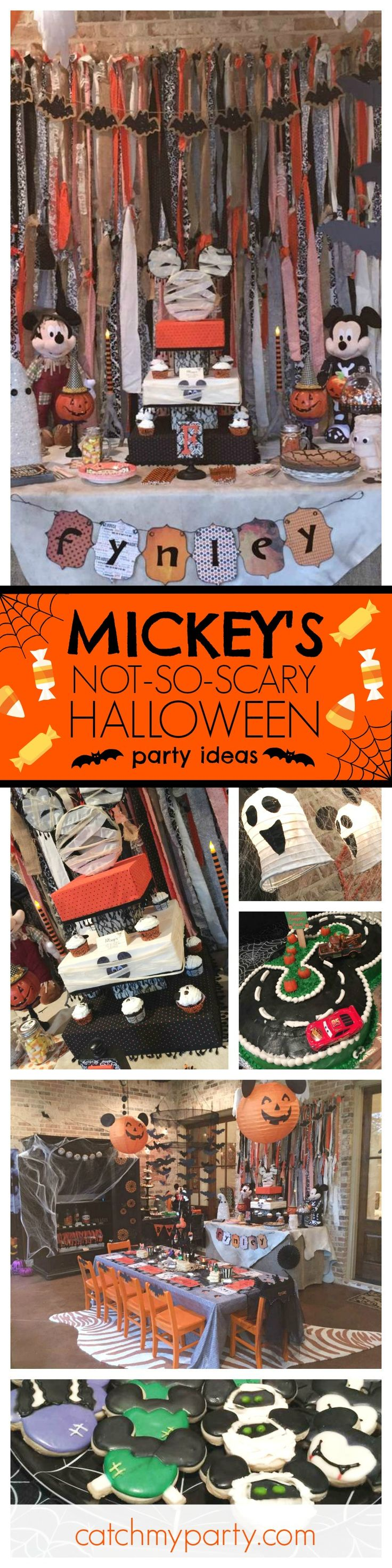 Don't miss this great Mickey's Not-So-Scary Halloween Birthday Party! The decorations and table settings are awesome!