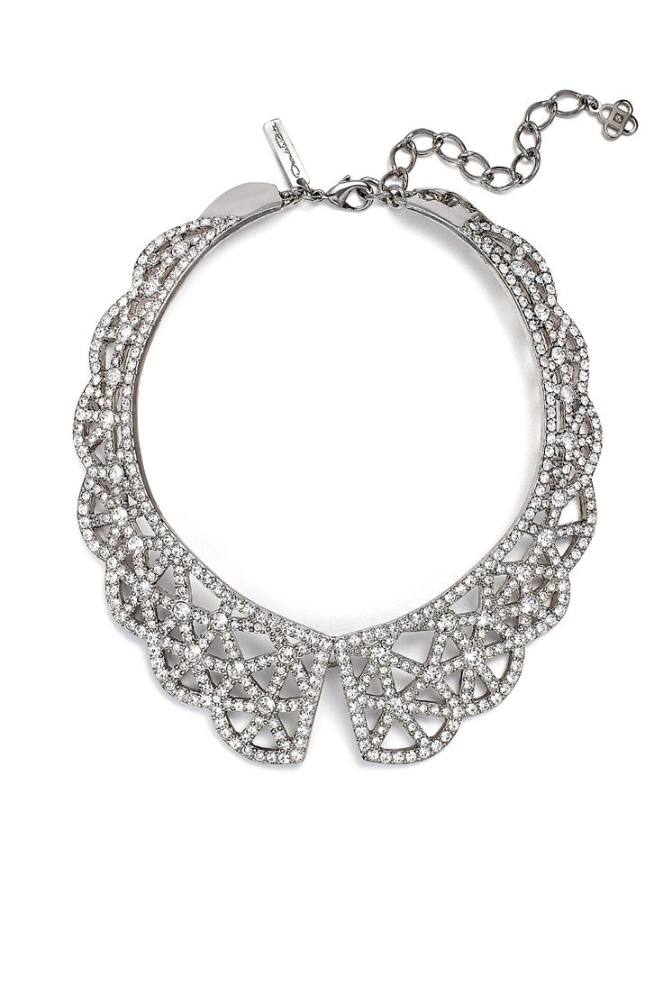 Oscar de la Renta, Crystal Web Necklace, $995, Rent the Runway, $150 / 4-Day - https://www.renttherunway.com/shop/designers/short_jewelry/crystalwebnecklace   (06.14.15)