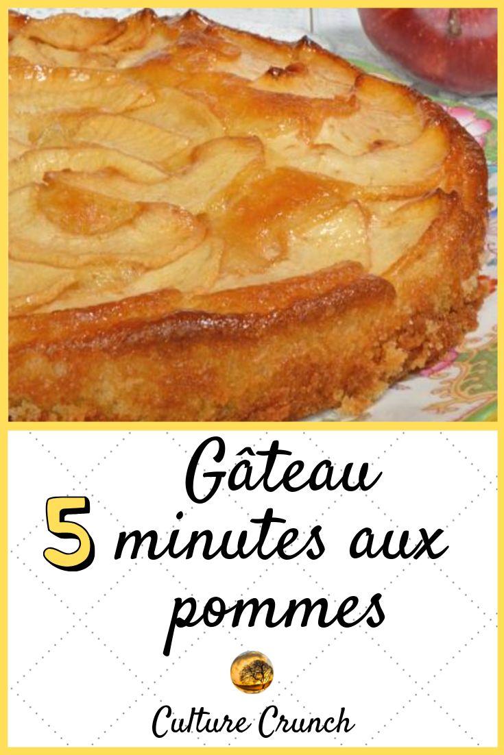 GÂTEAU 5 MINUTES AUX POMMES : la recette facile