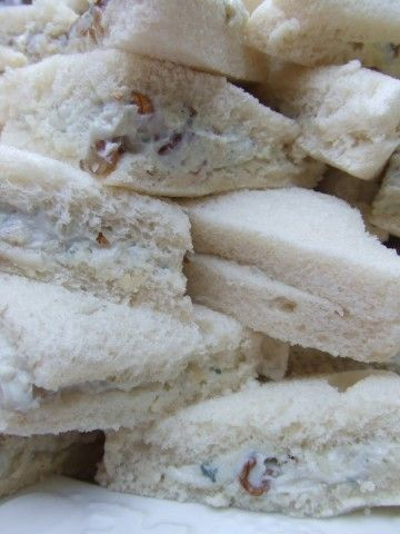 Sándwiches de gorgonzola, mascarpone y nueces