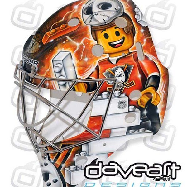 Everything is awesome about Frederik Andersen's LEGO Ducks mask (Photos) #NHL #Hockey