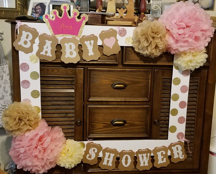 Photo Booth Frame For A Girls Baby Shower Photo Booth Desings