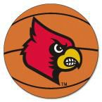 Ncaa University of Louisville Orange 2 ft. 3 in. x 2 ft. 3 in. Round Accent Rug