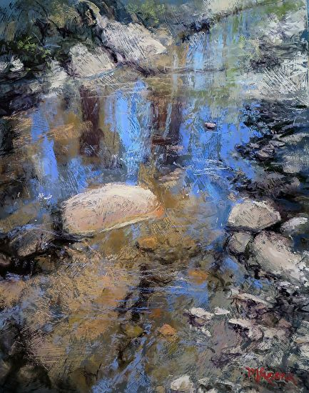 Rio Bonito, June by Margi Lucena Pastel ~ 20 x 16