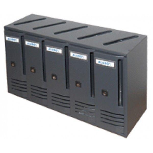 CASSETTA POSTALE CASELLARI BLOCCHIERE 5 elementi colore NERO GHISA Alubox - Cassette postali - Casalinghi e Arredamento