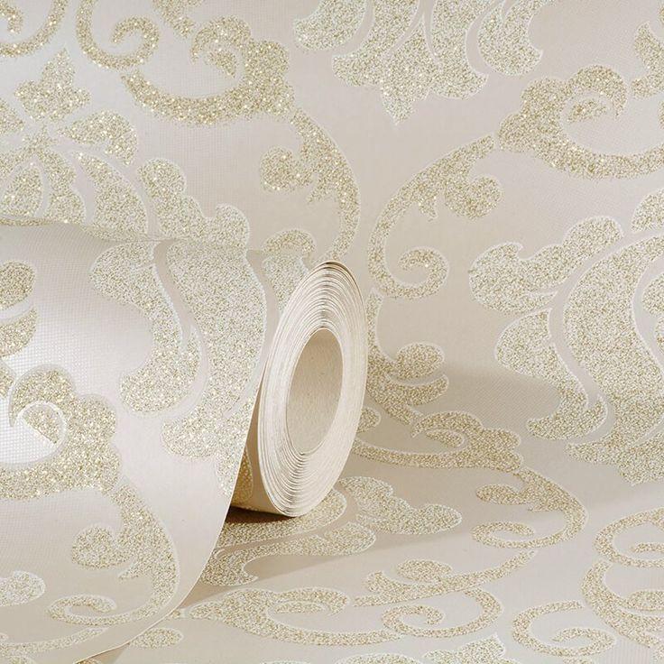 AS Creation Omega Damask Cream Glitter Wallpaper - http://godecorating.co.uk/as-creation-omega-damask-cream-glitter-wallpaper/