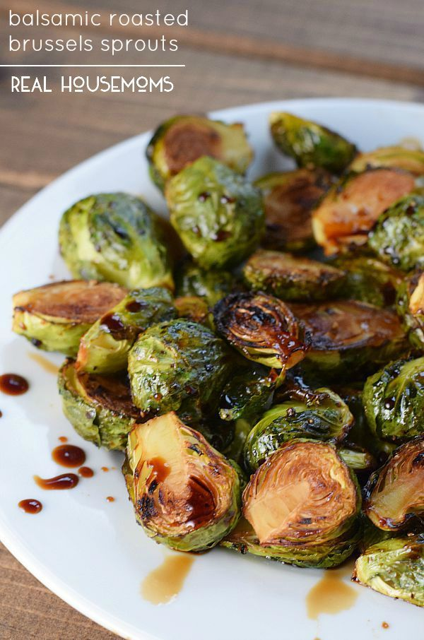 Balsamic Roasted Brussels Sprouts have a gorgeous caramelization and a sweet, nutty flavor that makes them the perfect simple side dish!
