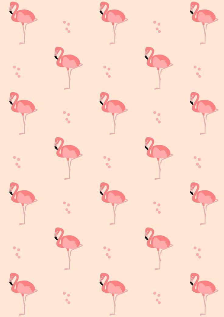 FREE printable flamingo pattern paper | #pinkflamingo