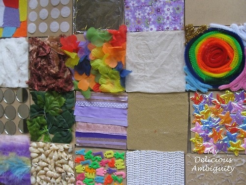 sensory board....I'd love to make one of these sometime!