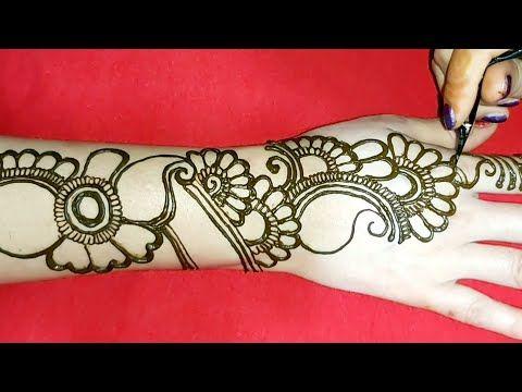 full hand mehndi design simple and easy back