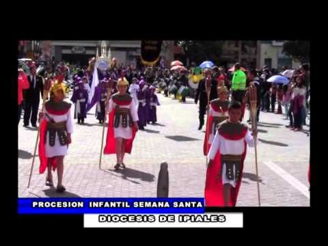 IPIALES SEMANA SANTA INFANTIL 2015. IPIALES, NARIÑO, COLOMBIA (TELEREVISTA PANORAMA - J., 2 ABR 2015 )