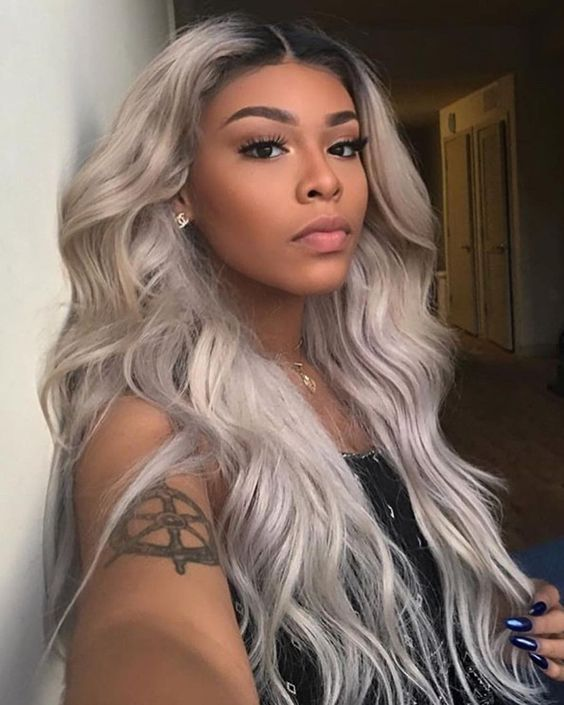 Wavy long 613 platinum blonde hairstyles wigs for black women human ...