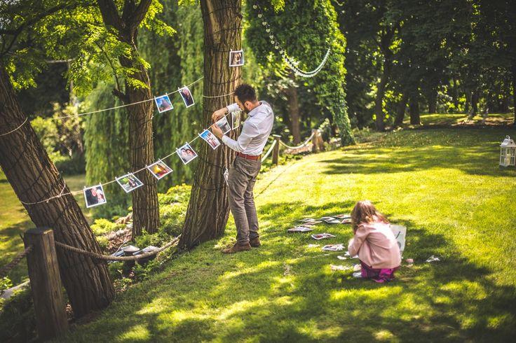 Dekoracje w ogrodzie #garden #decoration #photo #wedding