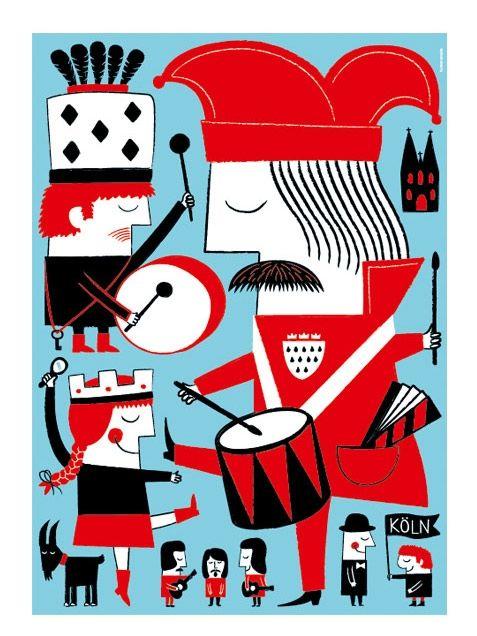 Human Empire Studio Karneval in Köln Poster