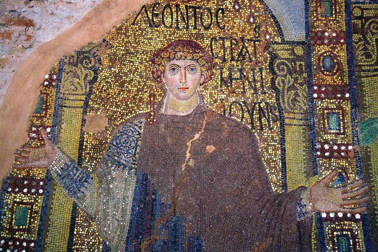 Rotonda di San Giorgio, Salonicco, Grecia, I mosaici della fine del IV -metà del V secolo. San Leonzio di Tripoli
