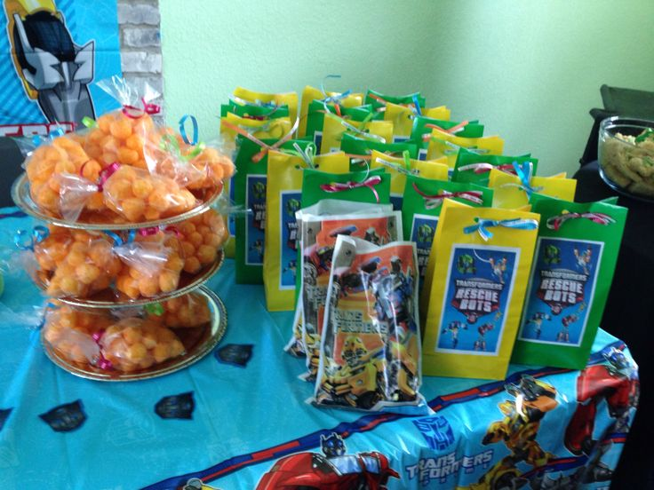 Angels 3rd birthday party. Transformers Rescue Bots