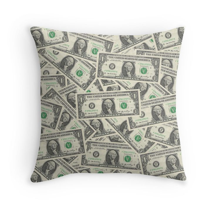 'Dollar Bills' Throw Pillow by morningdance – …