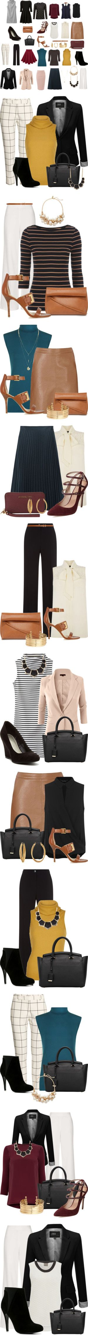 Work Wardrobe Basics on a Budget: 31 outfits by vanessa-bohlmann on Polyvore featuring H&M, Damsel in a Dress, Vero Moda, Oasis, Miss Selfridge, Glamorous, J.TOMSON, LE3NO, Nocturne #22 In C Sharp Minor, Op. Posth. and Warehouse